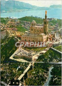 Modern Postcard Marseille Bouches du Rhone Basilica of Our Lady of the Guard