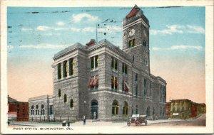 Vtg 1910s Post Office Wilmington Delaware DE Postcard