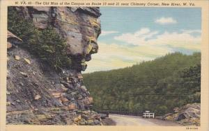 The Old Man Of The Canyon On Route 19 And 21 Near Chimney Corner New River We...