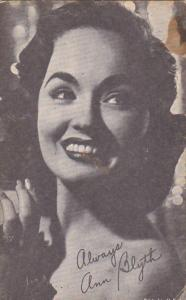 Vintage Arcade Card Ann Blyth