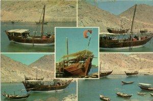 PC CPA SAUDI ARABIA, THE ARABIAN DAW, LEGENRADY VESSEL, (b15878)