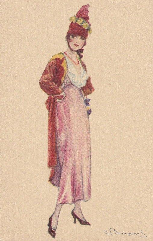 Art Deco ; BOMPARD ; Fashion Woman Portrait #18, 1910-20s