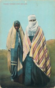 Turkey Turkish woman with slave ethnic traditional costumes  Postcard