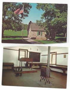 Valley Forge PA Old Camp Schoolhouse Room Interior (2) 1964
