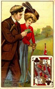 A Jack O' Clubs.    Artist: Unsigned