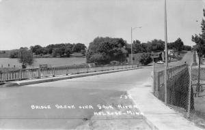 Melrose Minnesota Sauk River Bridge Real Photo Antique Postcard K66718