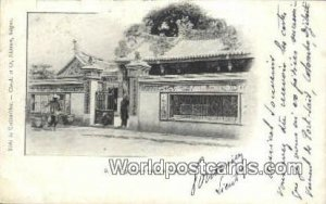 Pagode chinoise Cholon Vietnam, Viet Nam 1902 Writing on front