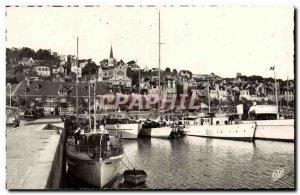 Modern Postcard Deauville Beach Fleurie Le Bassin des Yachts