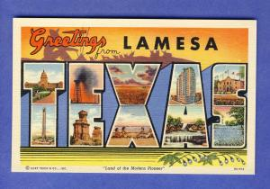 Greetings From Lamesa Texas/TX Postcard, Nice Multi-View