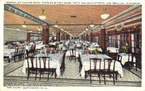 Hotel Rooslyn Dining Room Los Angeles, CA, USA Postcard Post Cards Old Vintag...