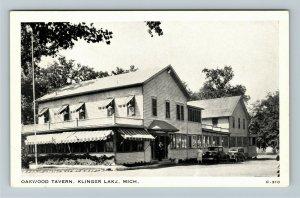Klinger Lake MI- Michigan, Oakwood Tavern, Vintage Chrome Postcard