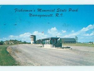 Pre-1980 PARK SCENE Narragansett Rhode Island RI hk6804