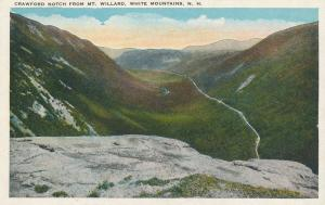 Crawford Notch, White Mountains, New Hampshire - View from Mt. Willard - WB