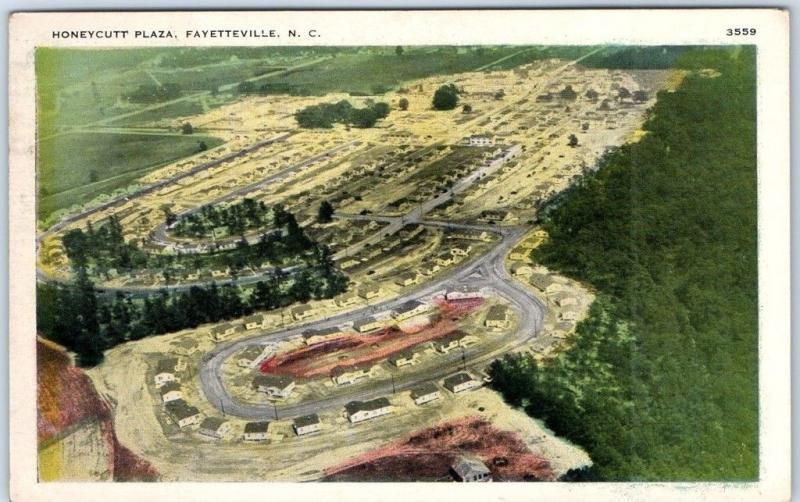 Fayetteville, North Carolina Postcard HONEYCUTT PLAZA Houses