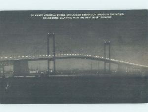 Unused 1920's BRIDGE SCENE Deepwater New Jersey To Wilmington Delaware DE H8397