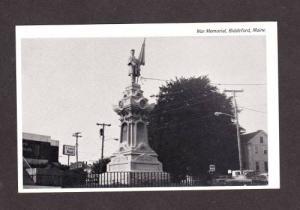 ME War Memorial Canal Bank City Square  BIDDEFORD MAINE