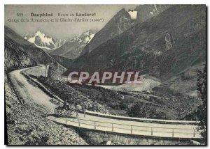 Old Postcard The Dauphine Route du Lautaret Gorge Romanche and Arsine Glacier...