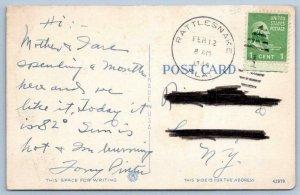 1949 ST PETERSBURG FLORIDA SPA BEACH MID WINTER BATHING PIER RATTLESNAKE FL PM