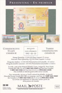 Stamps Of Canada Olympic Canada 1992
