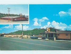 Pre-1980 MOTEL SCENE Custer In Black Hills - Near Rapid City SD AD9003