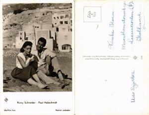 CPA AK PAUL HUBSCHMIDT, ROMY SCHNEIDER Ufa/Film-Foto. Film Star Cinema (464982)
