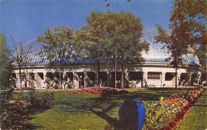 Salt Lake City Utah~Big Planter~Flower Bed~Mormon L.D.S Tabernacle~1960 Postcard