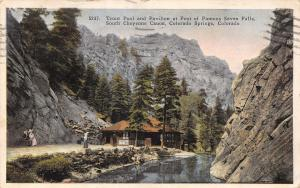Colorado Springs CO~Trout Pool And Pavilion At Foot Of Famous Seven Falls~1928