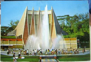 Singapore National Theatre and Water Fountain - posted 1982