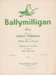 Ballymilligan Alex Rowley Irish Air Ireland Old Sheet Music