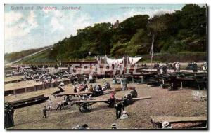 Postcard Old Beach and Shrubbery Southend