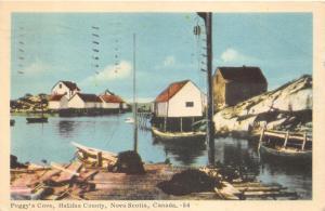 Halifax County Nova Scotia Canada~Peggy's Cove Scene~Fishing Boats & Houses~1952