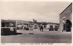Camping Ground Entrance West Bay Bridport Dorset Real Photo Postcard