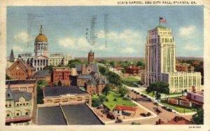 State Capitol and City Hall - Atlanta, Georgia GA