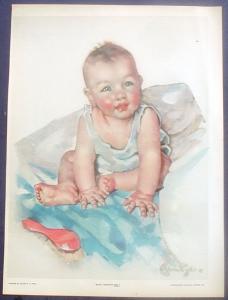 Magazine Illustration Baby Pictorial Review Ellen B.T. Pyle