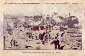pre-1907 TEMPORARY RAILROADS FOR REMOVING DEBRIS, SAN FRANCISCO EARTHQUAKE, 1906