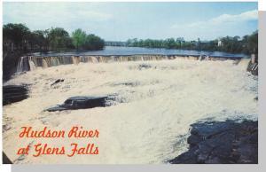 Glen Falls, New york/NY Postcard, Hudson River/Cooper's Cave
