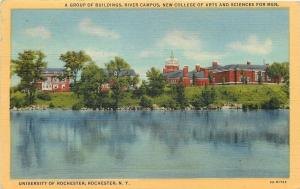 Rochester New York~University~College of Arts & Sciences for Men~1949 Postcard