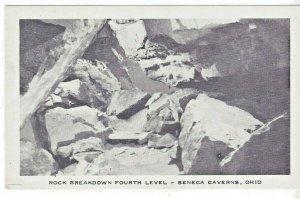 Seneca Caverns Bellevue Ohio Rock Breakdown 4th Level Glacier Cave B&W