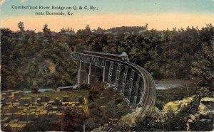 Cumberland River Bridge on Q. & C. Ry., near Burnside, Ky., Posted 1913
