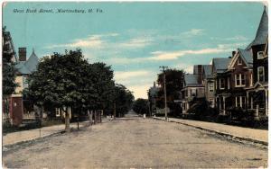 1914 MARTINSBURG West Virginia W VA Postcard WEST BURK STREET Homes