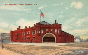 5th Regiment Armory, Paterson, New Jersey, Early Postcard, Unused