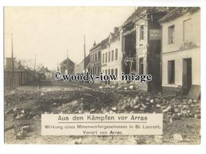 su2937 - War Damage in St Laurent from fighting before Arras - postcard by NVE