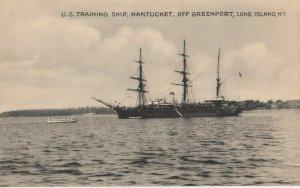 GREENPORT , L.I. , New York, 1900-10s ; U.S. Training Ship NANTUCKET