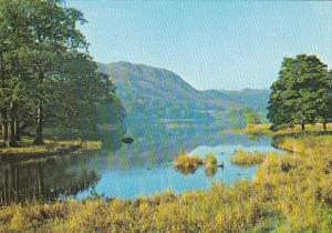 England Cumbria Loughrigg Fall and Lower End Of Rydal Water