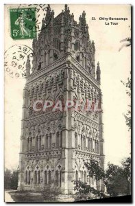 Old Postcard Chiry Ourscamps Tower