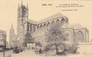 Belgium Gent Gand La Cathedrale Saint Bavon et le Monument des Freres Van Eyck