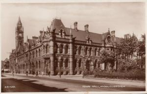 Town Hall Middlesborough Antique Real Photo Postcard