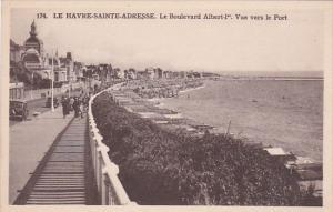 France Le Havre Le Boulevard Albert I Vue vers le Port
