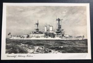 Mint Germany Real Picture Postcard RPPC Holstein Cruiser BattleShip B WW2
