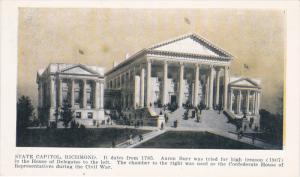 RICHMOND, Virginia, 1900-1910's; State Capitol